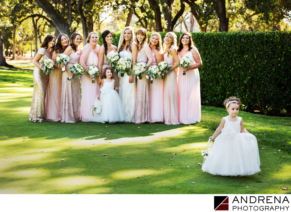 Runaway Flower Girl Napa Valley Wedding Photographer