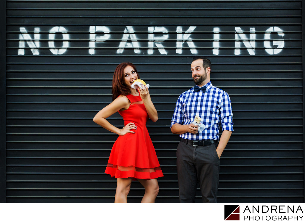 Downtown Los Angeles Engagement Session and Props