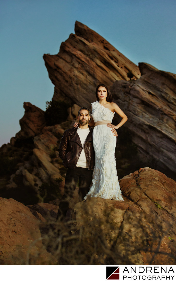 Los Angeles Engagement Session at Vasquez Rocks