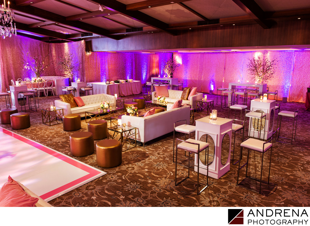 Pink Gold White Party Lounge Decor Los Angeles