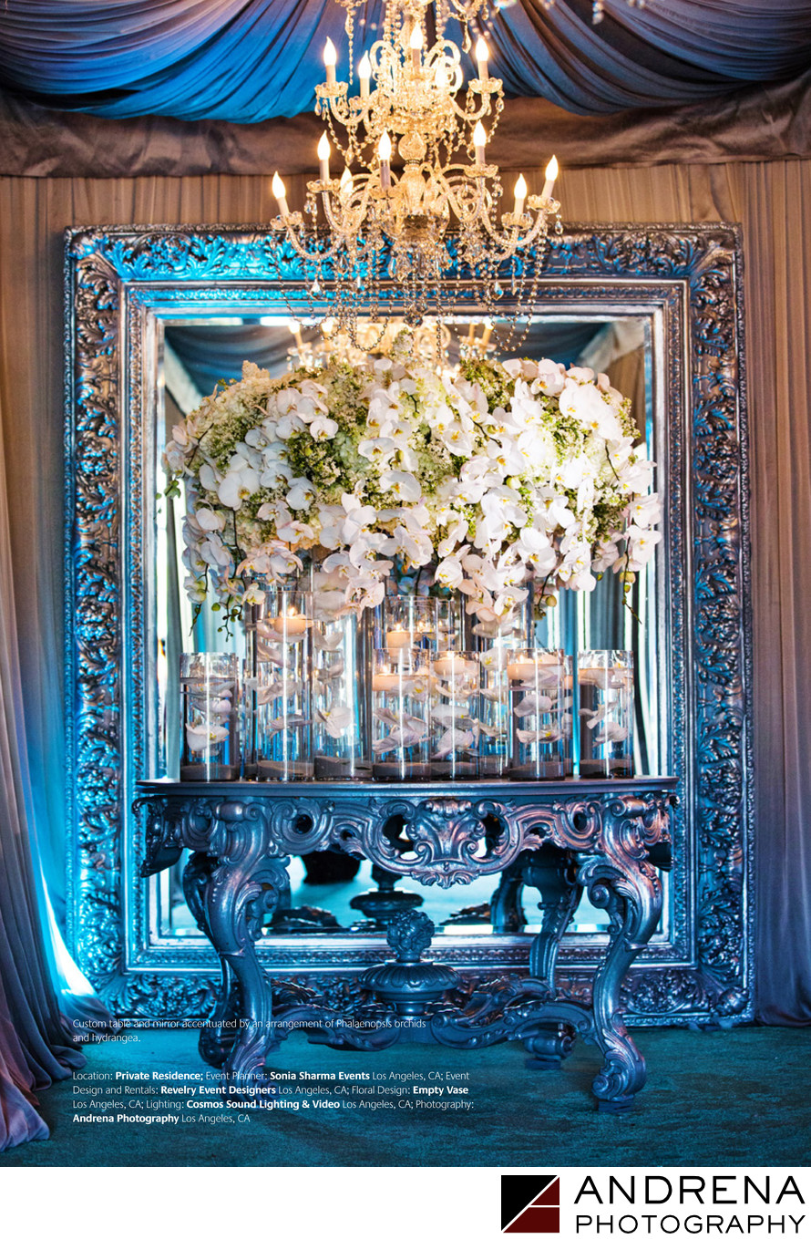 Empty Vase Blue and White Florals Grace Ormonde Wedding Style