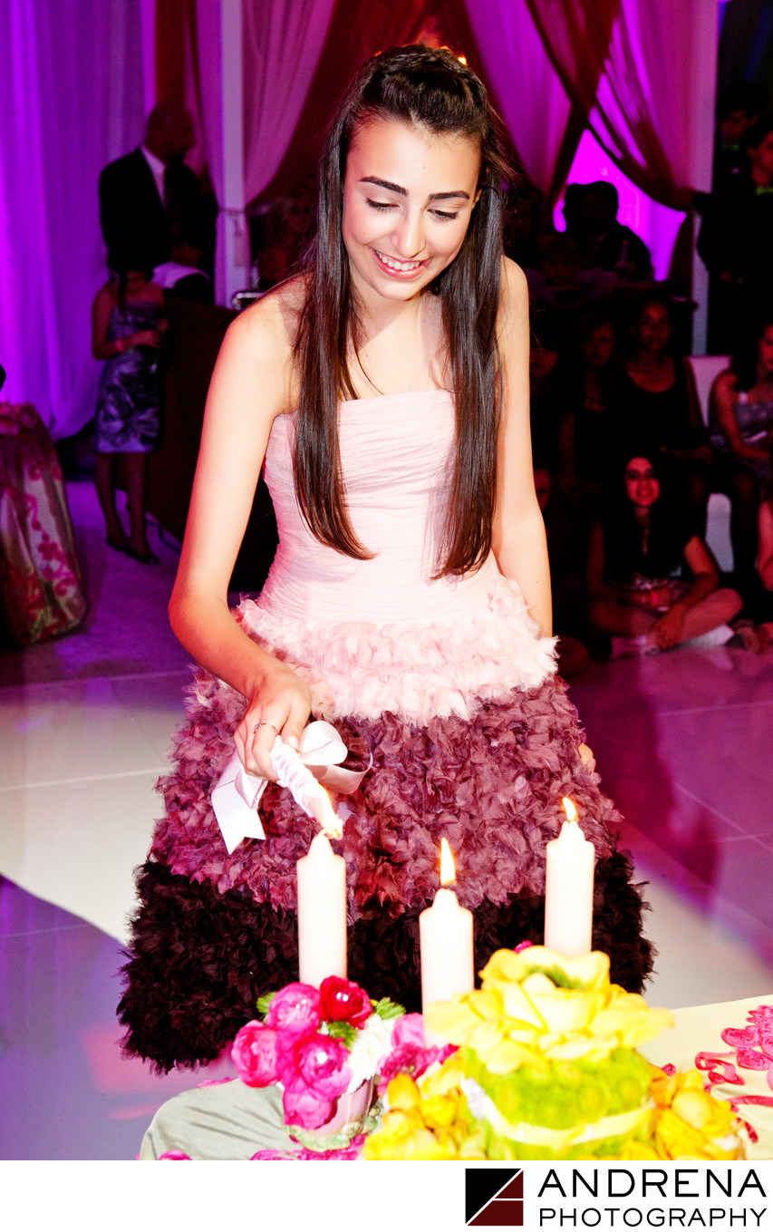 Los Angeles Bat Mitzvah Candle Lighting