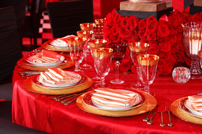 Red Party Decor Los Angeles