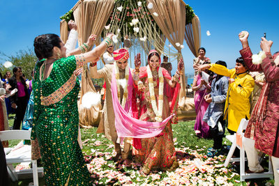 Indian Wedding Photographers Ritz Carlton Laguna Niguel Recessional