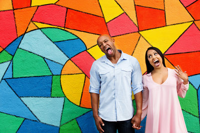 Colorful Engagement Session Photographer
