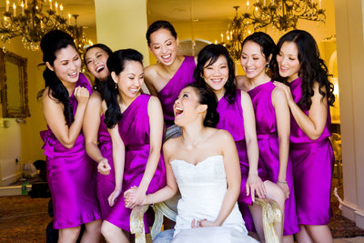 Korean Wedding Photographer Los Angeles Bridesmaids at Trump Resort
