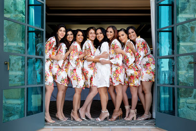 Bel Air Bay Club Wedding Tips for Bridesmaid Robe Photo