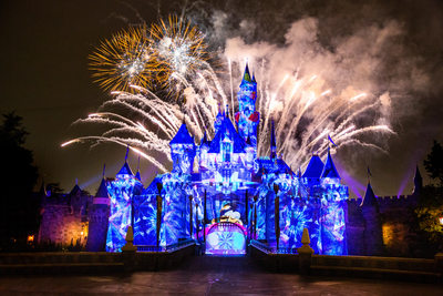 Special Event Photography Disney Castle with Fireworks
