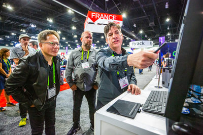 Nvidia CEO Jensen Huang LA Trade Show Photographer