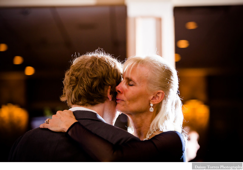 Groom and mother dance at the Lesner Inn