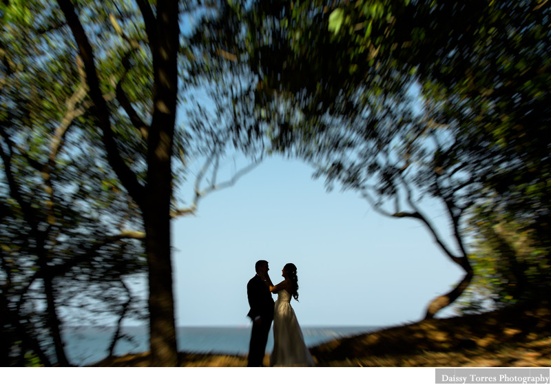 A first look for a Sunset Beach Resort Wedding