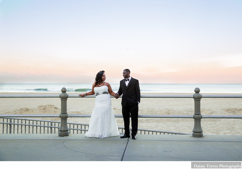 Couple Sunset at Oceanfront Virginia Beach Photographer