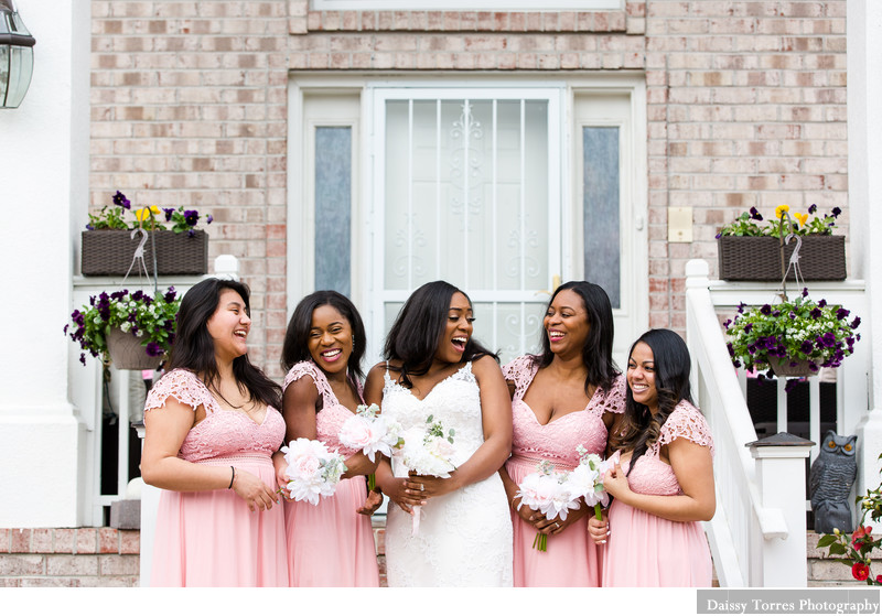 Bridesmaids in Pink Virginia Beach