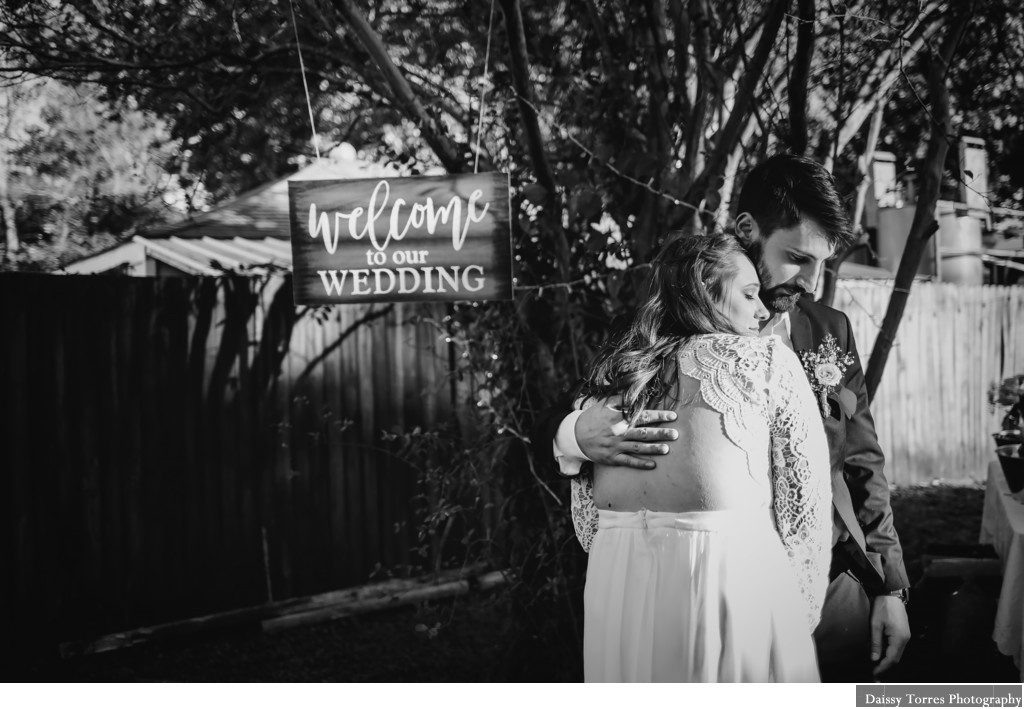 Backyard Virginia Beach Wedding Photographer