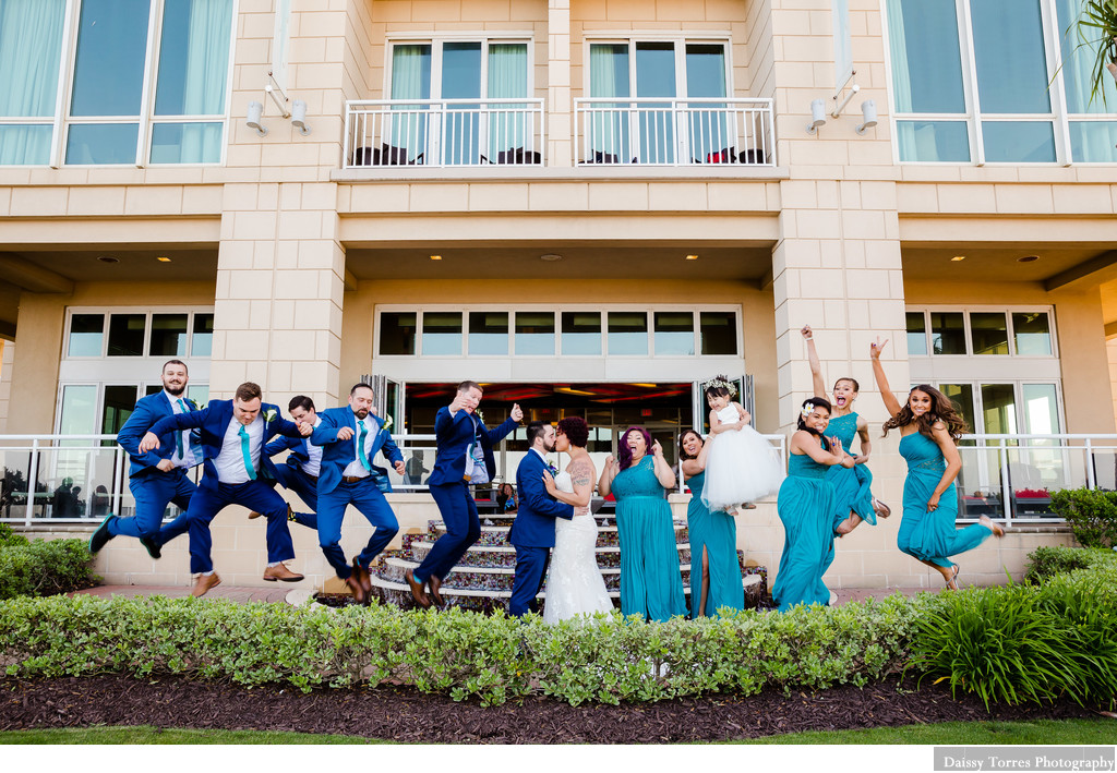 Bridal Party Fun Wedding Photographer in Virginia Beach