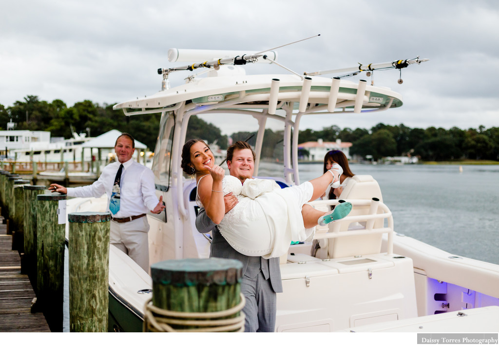 Boat Wedding photography Virginia Beach