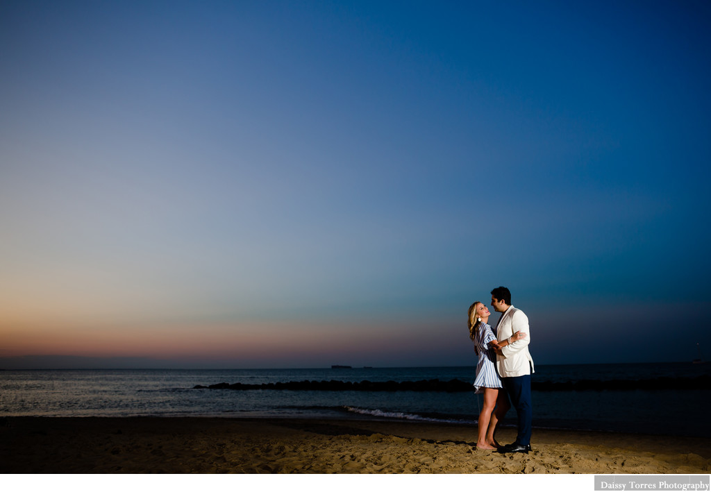 Sunset Engagement Session in Hampton Roads
