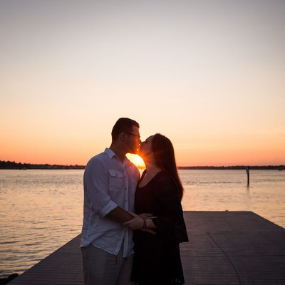 Sunset Wedding in Norfolk Virginia