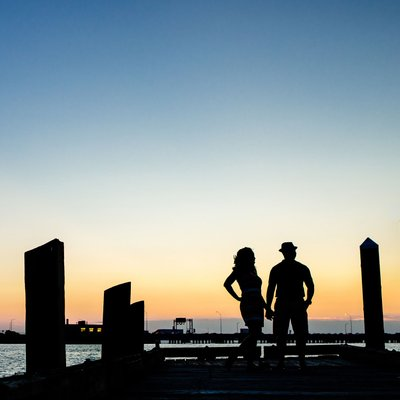 Newport News Sunset Engagement Session