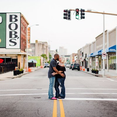 Downtown Norfolk Engagement Photographer