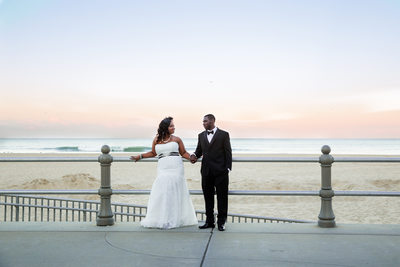 Couple Sunset Picture at Oceanfront Virginia Beach