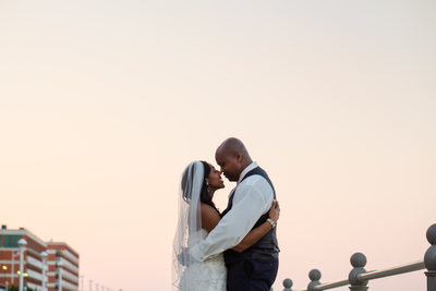 Oceanaire Resort Sunset Wedding