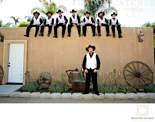 Fun Western Themed Wedding Photos in San Diego