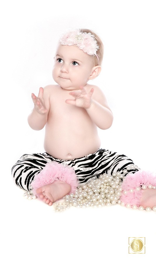 Studio Portrait Photographer Girl in Zebra Tights