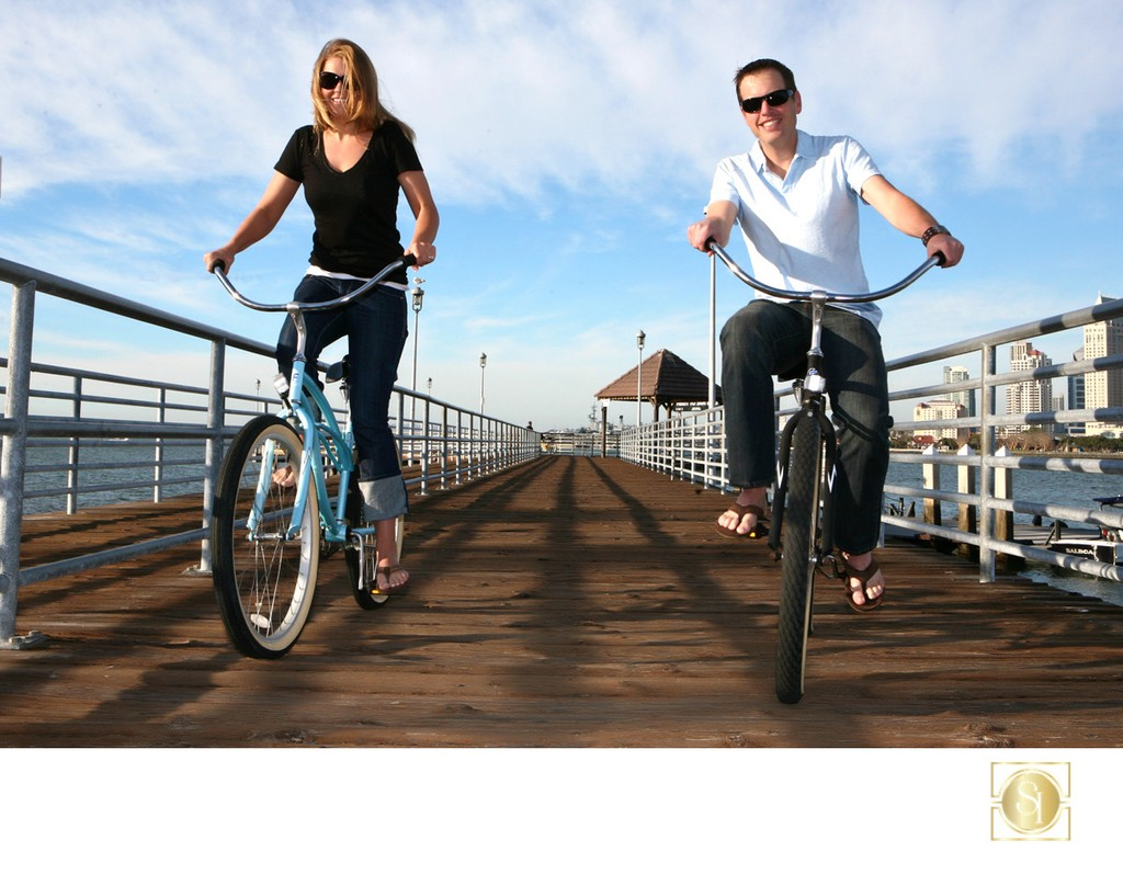 San Diego Wedding Photographer bikes on engagement