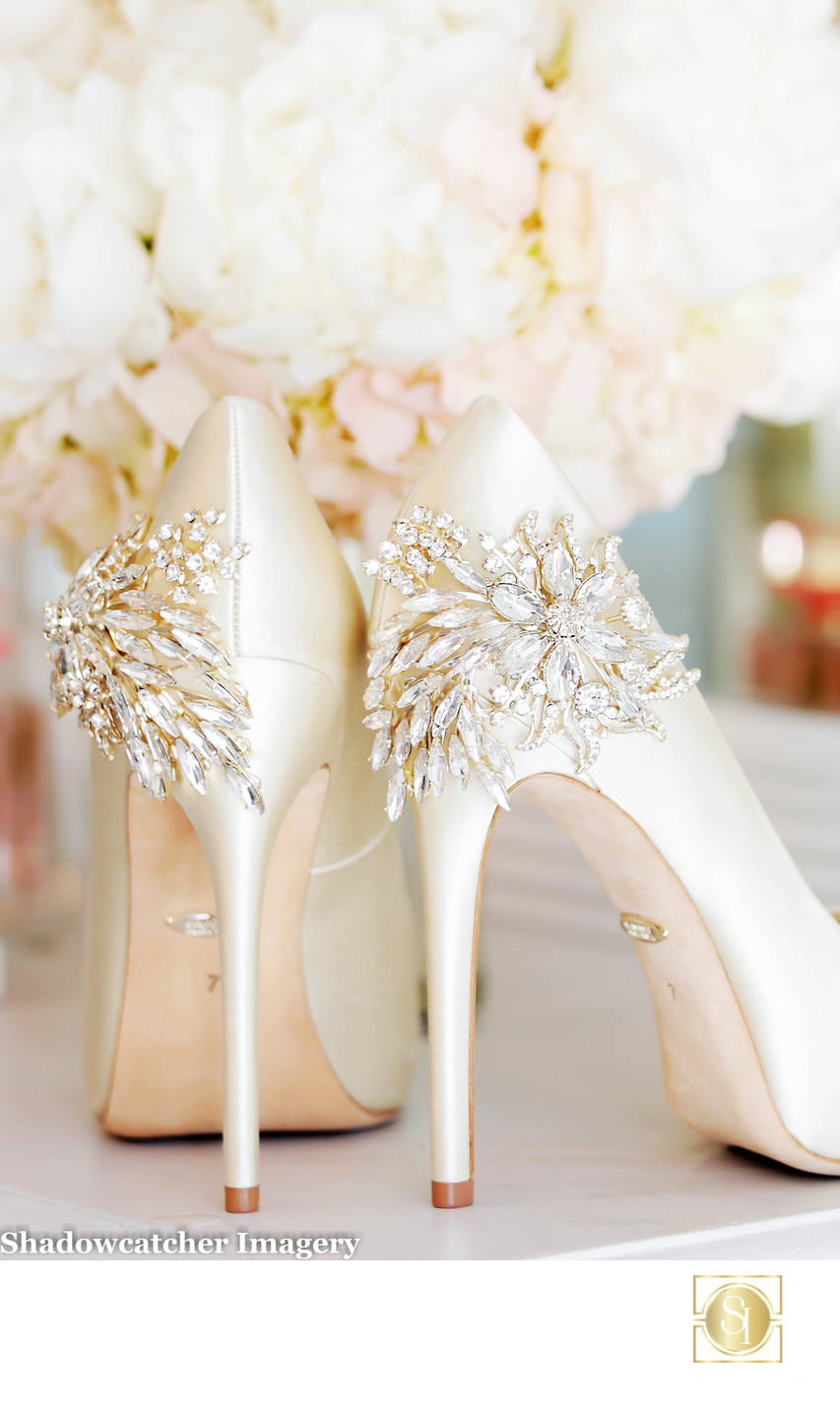 Badgley Mischka Wedding Shoes Photograph