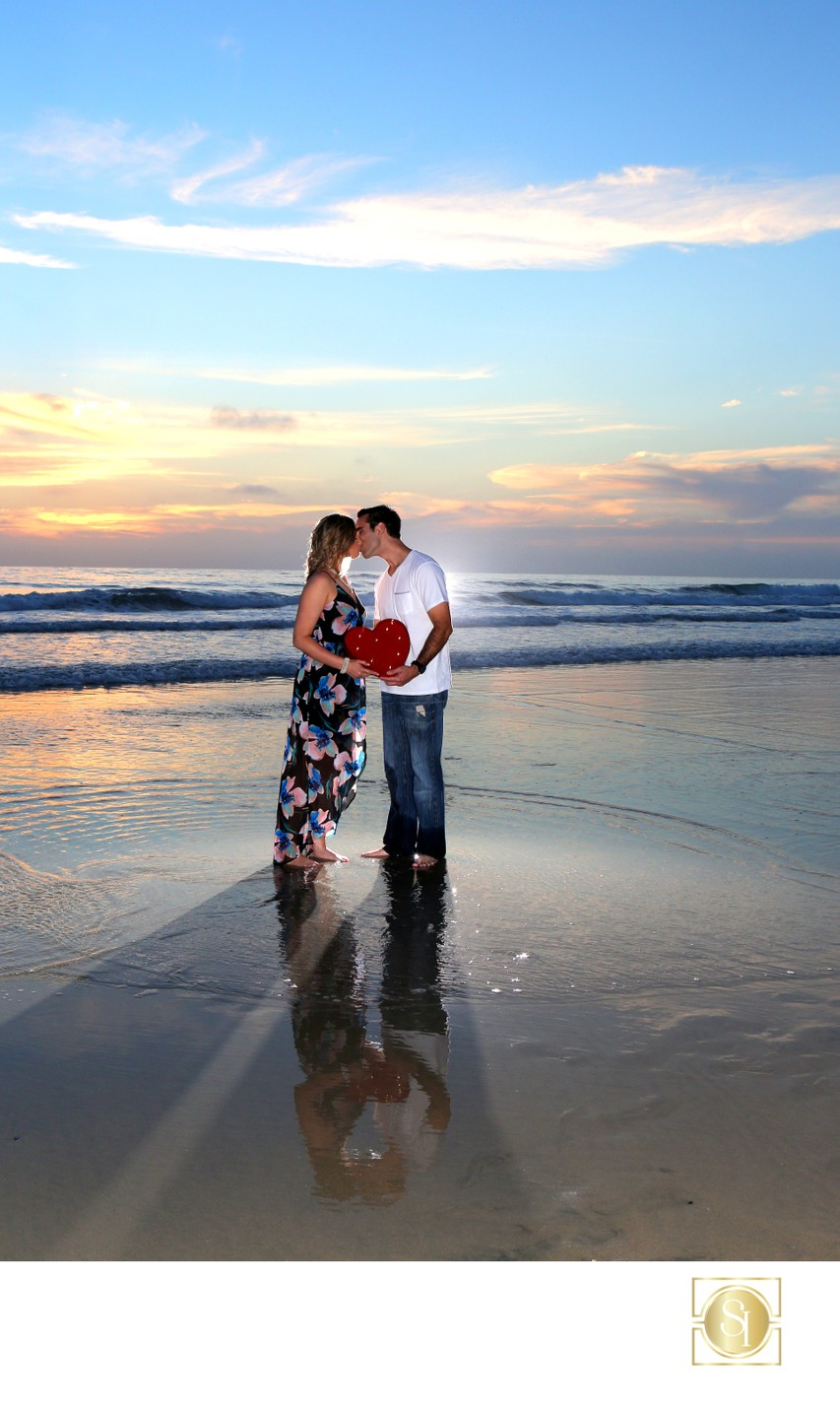 Artistic Sunset Engagement Photography