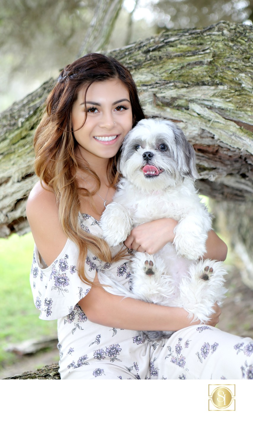 Rustic Senior Session Photographer with Dog