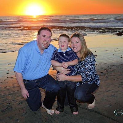 Cardiff State Beach Sunset Family Photographer