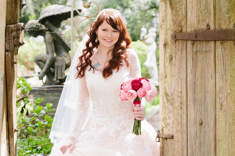 Bridal Portrait at Thornewood Castle Lakewood, Washington