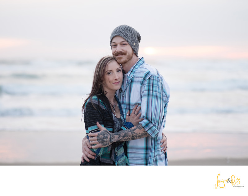 Becca & Garry Oregon Coast Creative Engagement Session