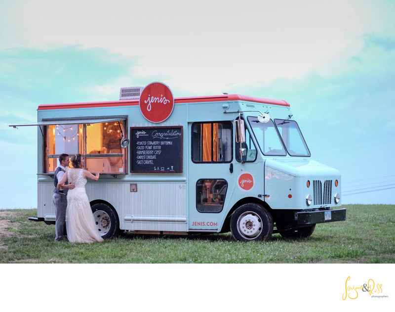Jennis Ice Cream makes the wedding reception even better.