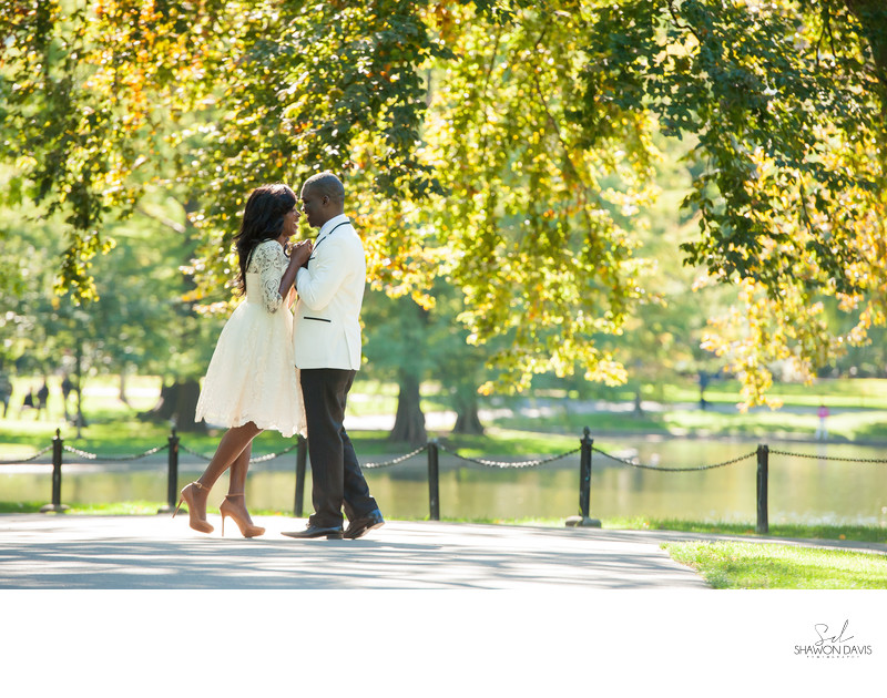 Boston Public Gardens Engagement Photos
