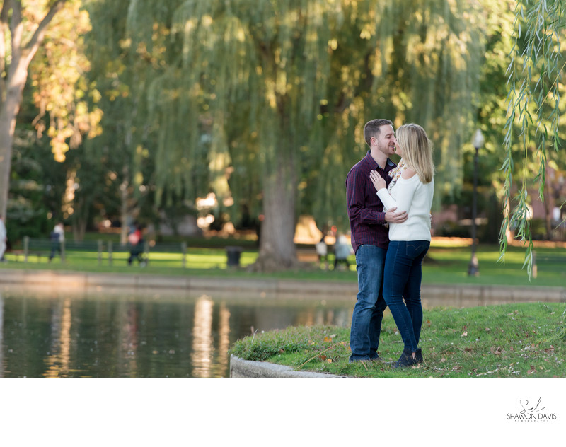 Boston Public Gardens Engagement Photographer
