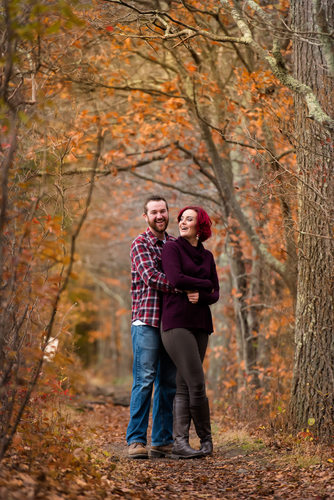 Fall Engagement Pictures at Borderland State Park