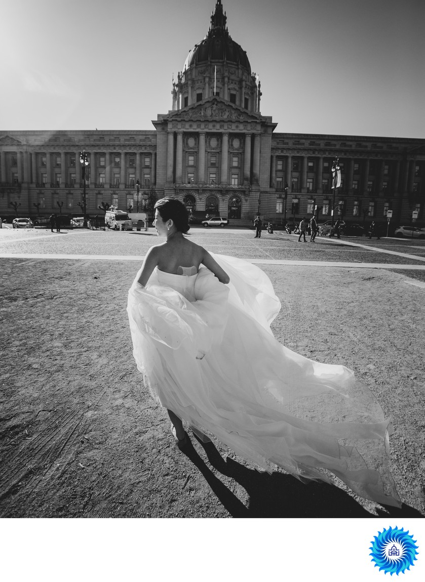 Bride Outside SF City Hall