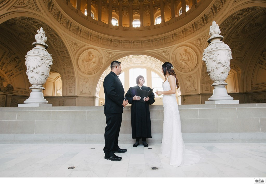 Couple during Fourth Floor Ceremony