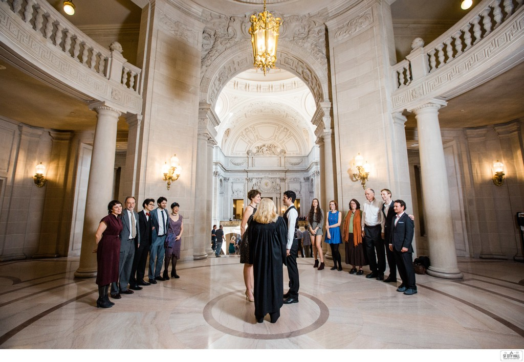 Panoramic Photo of a Rotunda Ceremony