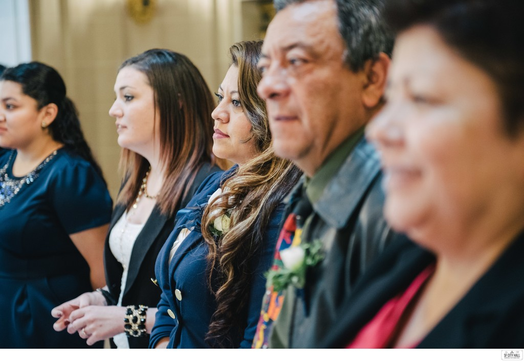 Family Members at SF City Hall Wedding
