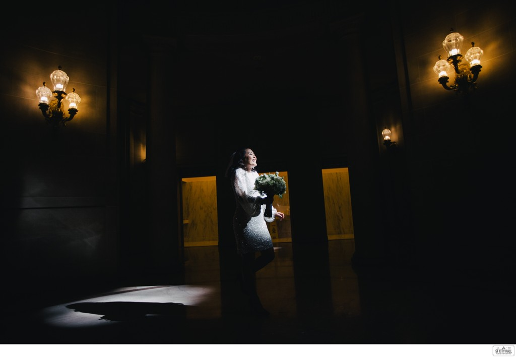Bride in the Dark at SF City Hall