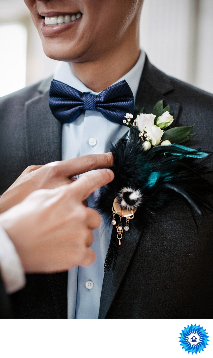 SF City Hall's groom boutonniere