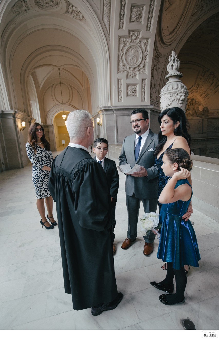Kids at SF City Hall Wedding