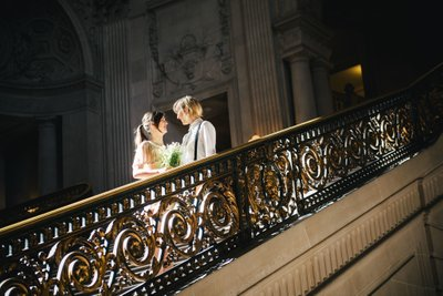 Two Brides at SF City Hall