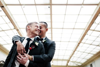 Two Grooms at SF City Hall 2