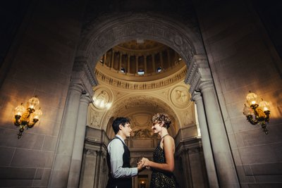 Couple in SF City Hall Rotunda