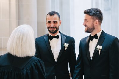 Two Grooms at SF City Hall